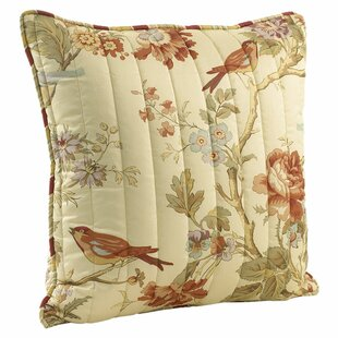 Charleston Chirp Quilted Cotton Throw Pillow