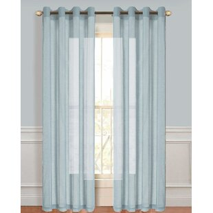 Adamson Solid Semi-Sheer Grommet Curtain Panels (Set of 2) by The Twillery Co.
