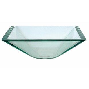 Kraus Square Glass Square Vessel Bathroom Sink