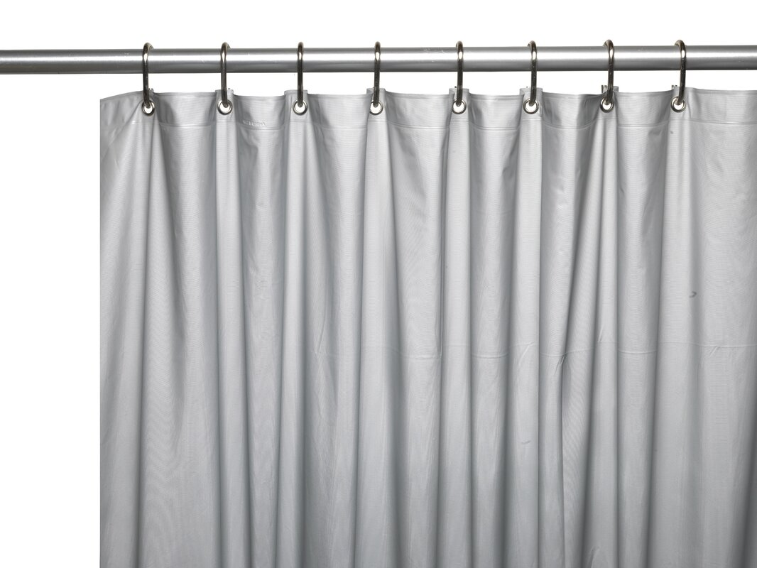 Ben and Jonah Hotel 8 Gauge Vinyl Shower Curtain Liner with Weighted ...