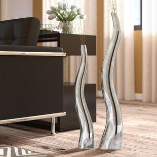 Wiggly Tall Floor Vase Set Of 2