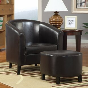 Winston Porter Hysell Well Barrel Chair and Ottoman
