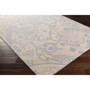 Great Price Cleo Hand-Tufted Blue/Purple Area Rug By Viv + Rae