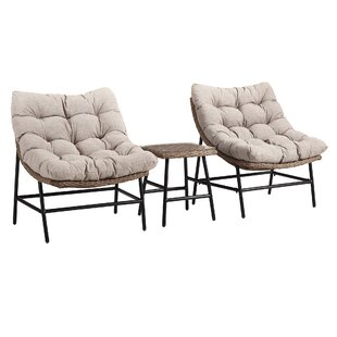 Lauri Transitional Patio Chair with Cushions (Set of 2)