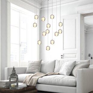 Veroniza 13-Light LED Cluster Pendant by Wrought Studio