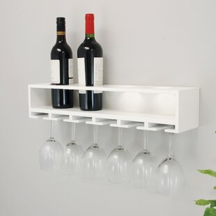 Claret Wall Mounted Wine Bottle Rack by n..