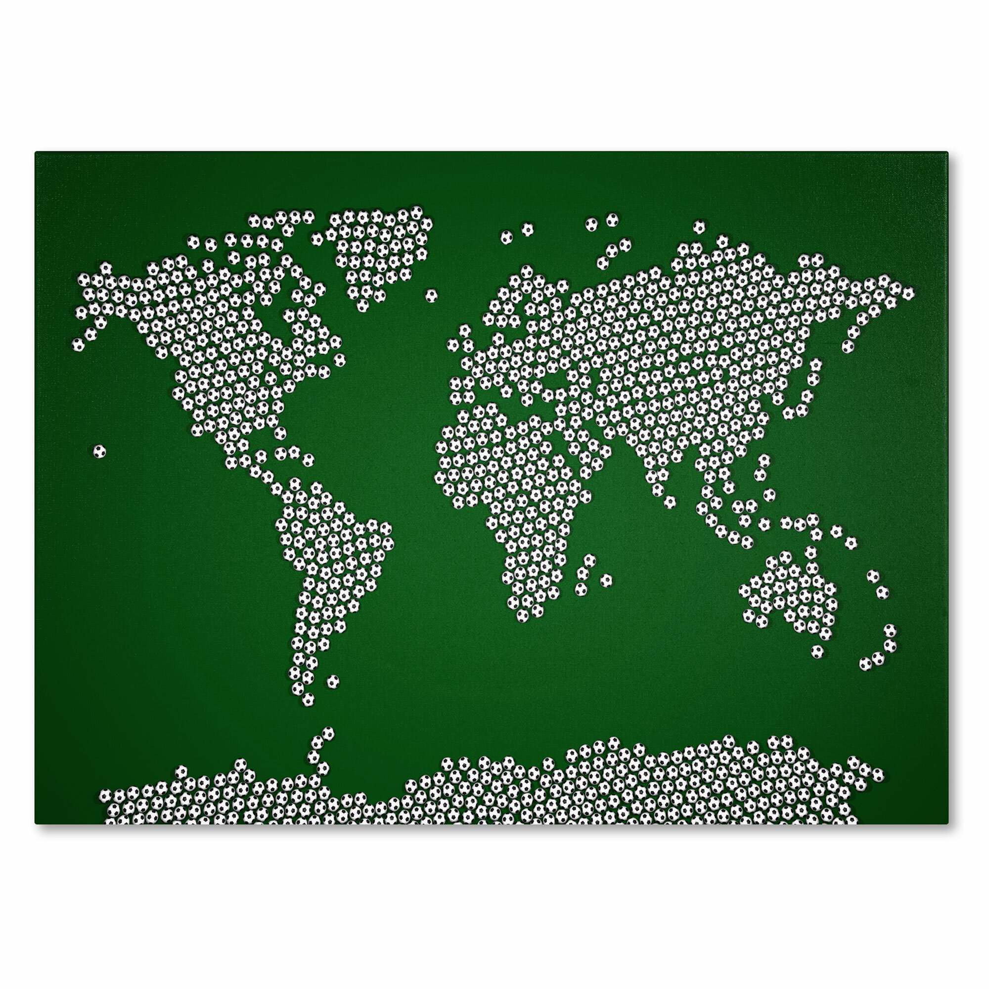 Trademark art soccer balls world map by michael tompsett framed trademark art soccer balls world map by michael tompsett framed graphic art on wrapped canvas wayfair gumiabroncs Image collections