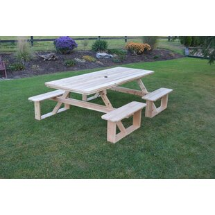 Bercht Wooden Picnic Table