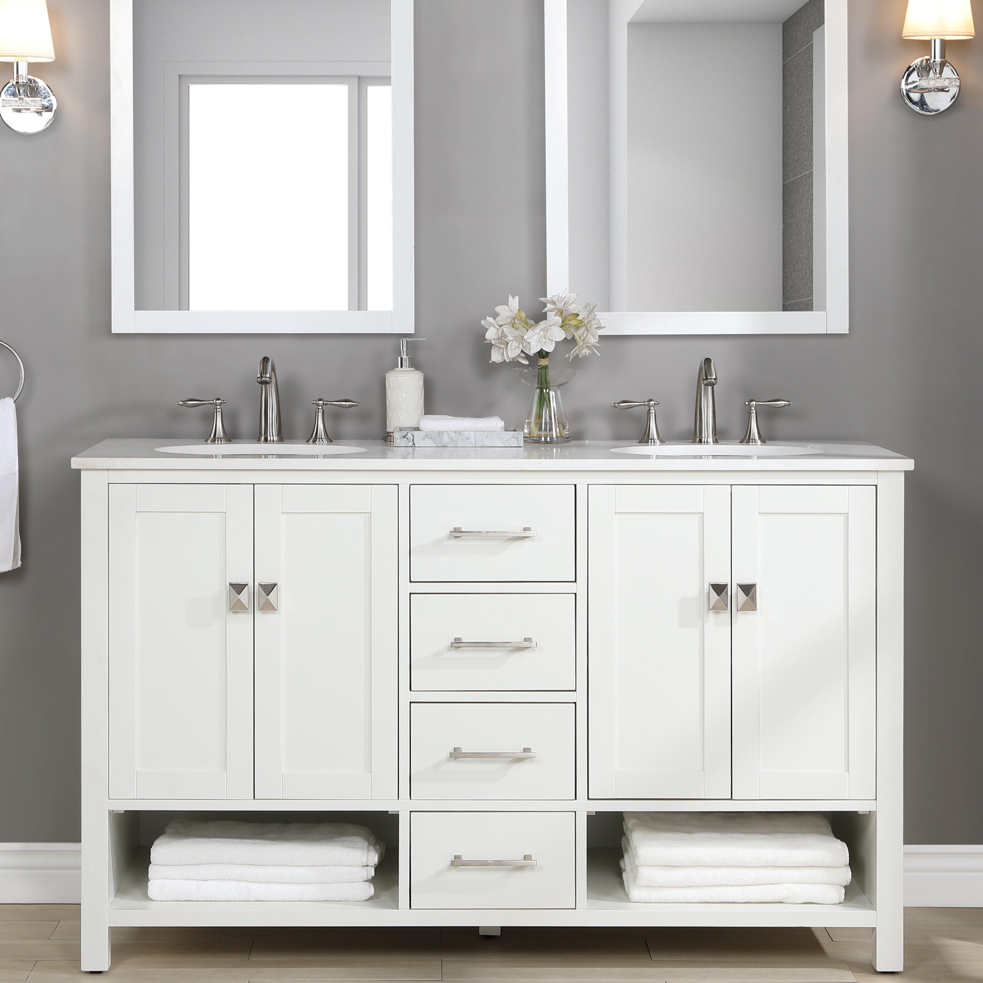 Latitude Run Iaria 60 Double Bathroom Vanity Reviews Wayfair