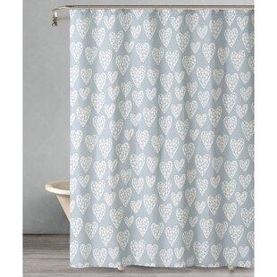 Comfrey Geometric Heart Single Shower Curtain