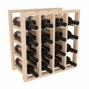 Karnes Pine Lattice 16 Bottle Tabletop Wi..