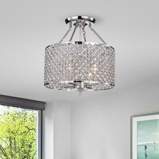 Pike 4-Light Semi Flush Mount by House of Hampton
