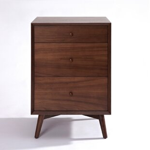 Top Reviews Dovercourt 3 Drawer Nightstand by Corrigan Studio