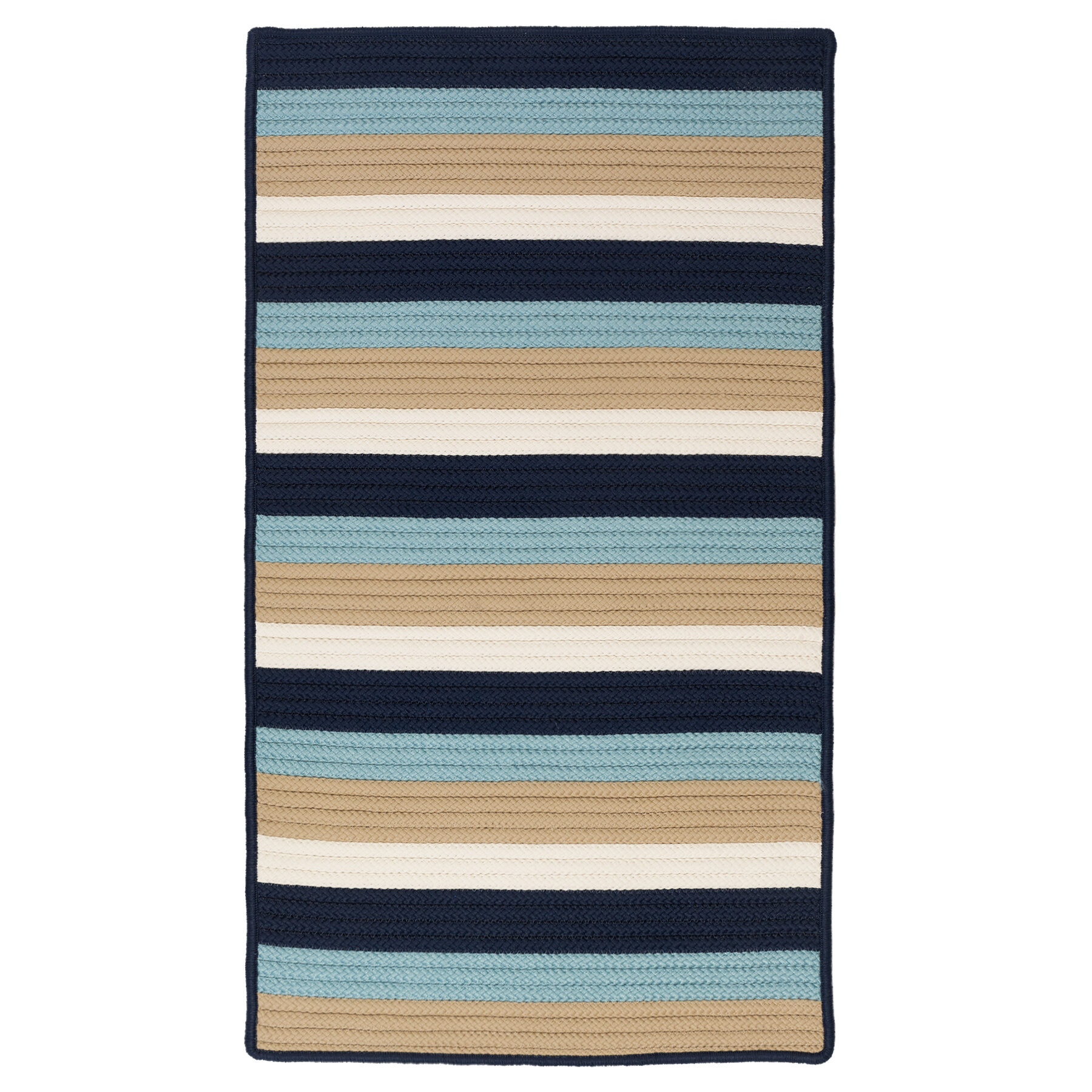 Wilkesboro Striped Braided Light Navy
