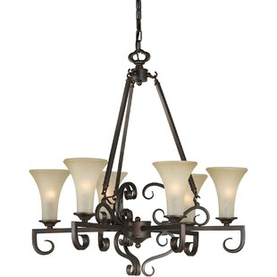 Cordia 6-Light Shaded Chandelier by Charlton Home