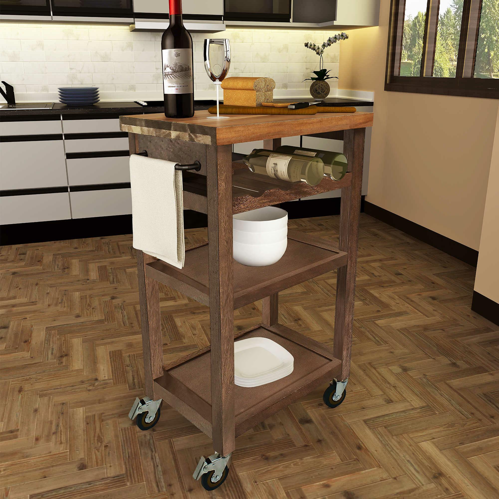 Red Barrel Studio Corinna Kitchen Cart