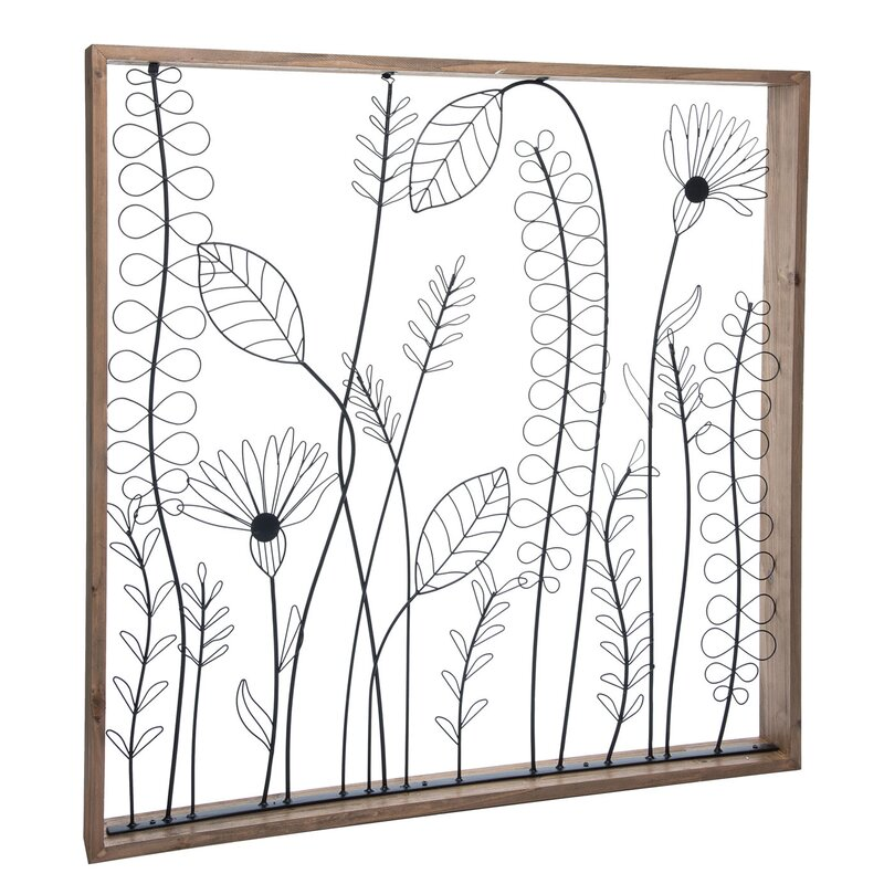 August Grove Wildflower Silhouette Wall Décor Wayfair