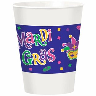 Mardi Gras Plastic Disposable Everyday Cup (Set of 25)