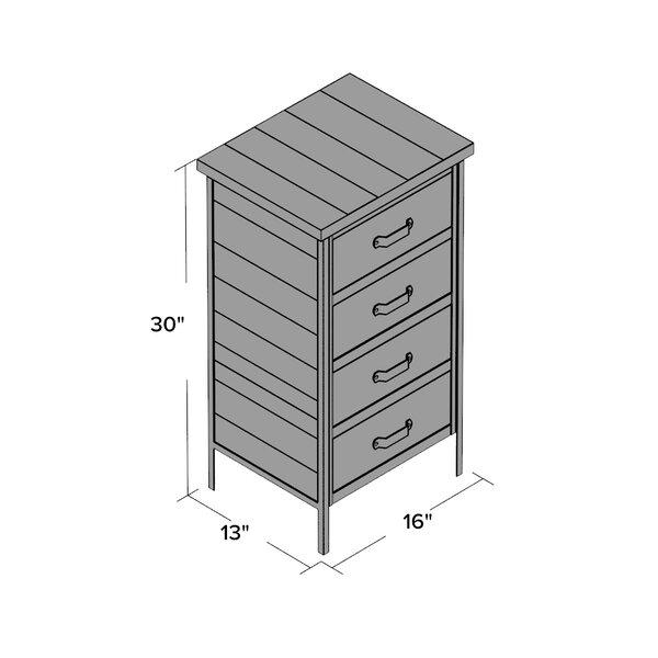 Trent Austin Design Clayera 4 Drawer Metal Nightstand Reviews Wayfair