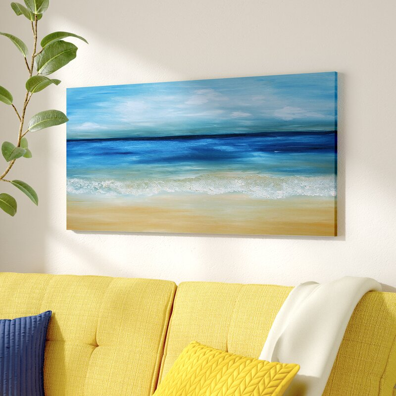 Warm Tropical Sea And Beach Oil Painting Print On Canvas