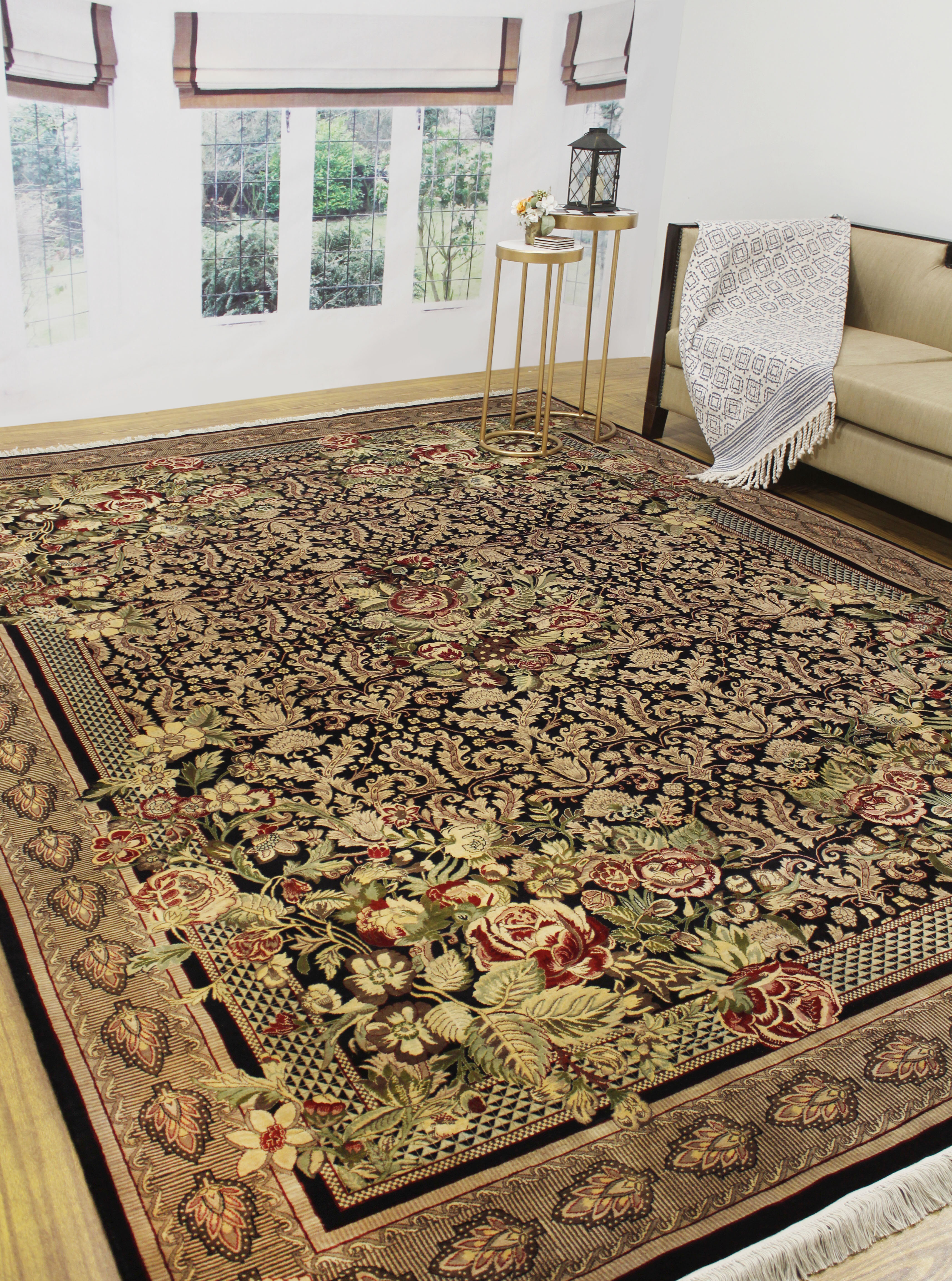 Renaissance Vintage Distressed Peal Home  Room Office Area Rug Carpet 5/' X 7/'