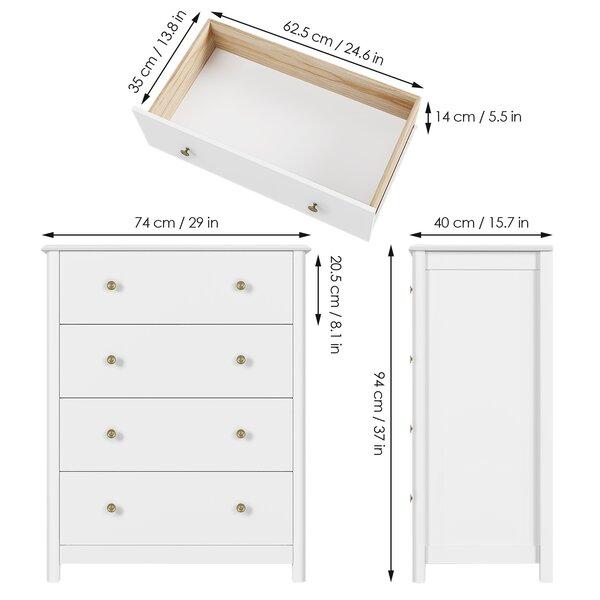 Winston Porter Avenir 4 Drawer Standard Dresser Chest Reviews Wayfair