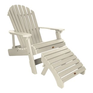 King Hamilton Plastic Folding and Reclining Adirondack Chair with Ottoman