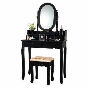 Charlton Home Xanthe Vanity Set with Mirror