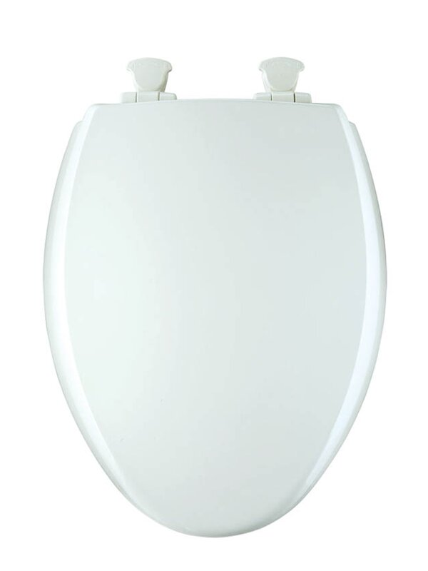 BEMIS Soft Close Lift Off Hinge Elongated Closed Front Toilet Seat White Wood