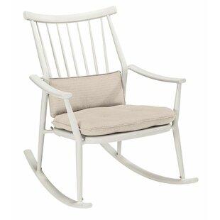 Gracie Oaks Asphodèle Darrow Rocking Chair with Cushion (Set of 2)