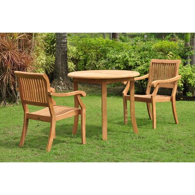 Masten 3 Piece Teak Bistro Set by Rosecliff Heights Best #1