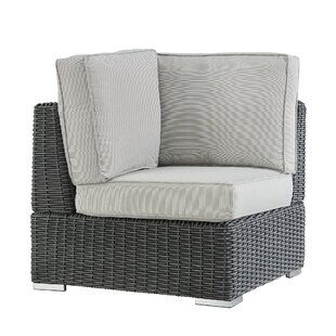 Darby Home Co Rathdowney Wicker Outdoor Sectional Corner Chair with Cushion