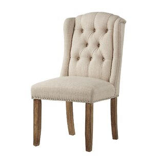 Deja Wing Back Upholstered Dining Chair (Set of 2) by Alcott Hill