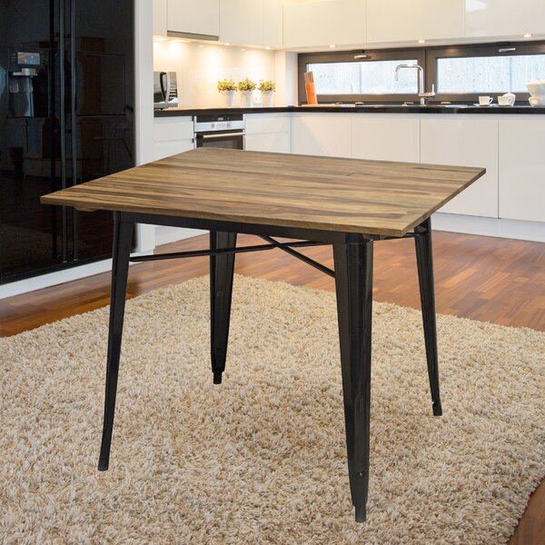 Williston Forge Rivera Solid Wood Dining Table Reviews Wayfair