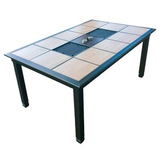 Brayden Studio Wells Infrared Aluminum Dining Table