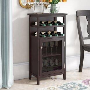 Alcott Hill Stapp 8 Bottle Floor Wine Cabinet
