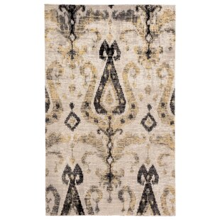 Jambi Ikat Gray/Beige Indoor/Outdoor Area Rug