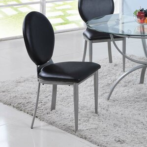 Prosperie Round Back Upholstered Dining Chair (Set of 2) by Varick Gallery