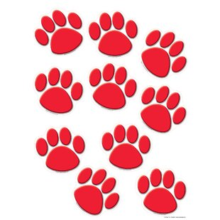 Red Paw Prints Accent by Teacher Created Resources