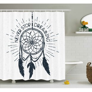 Riegel Quotes Inspirational Dreaming Lettering Single Shower Curtain