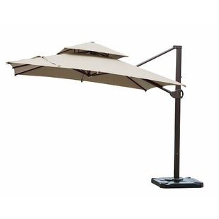Red Barrel Studio Ozias Patio Offset Hanging 10' Cantilever Umbrella
