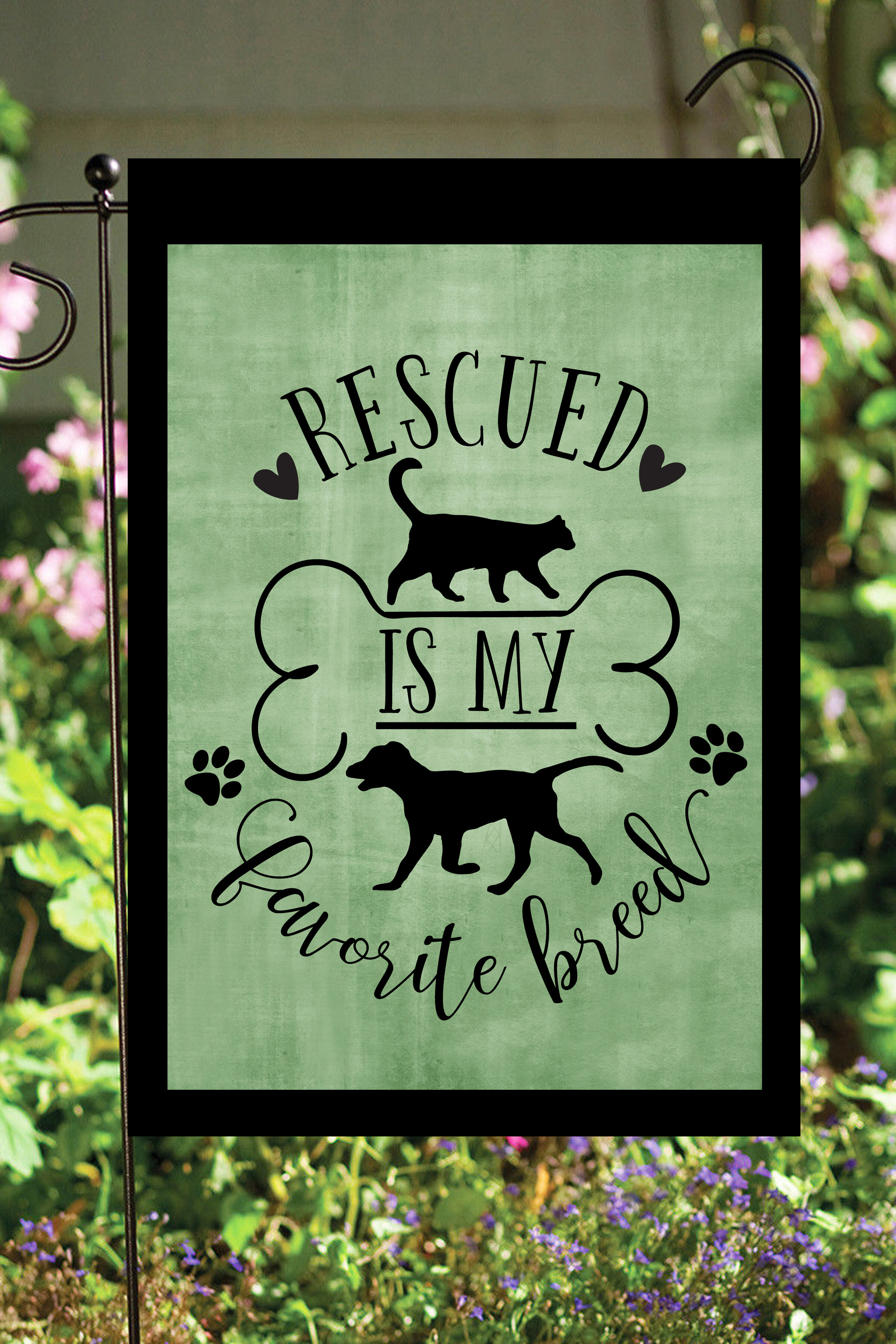 Flags Galore Decor And More Animal Rescue 2 Sided Polyester 18 X 12 In Garden Flag Wayfair