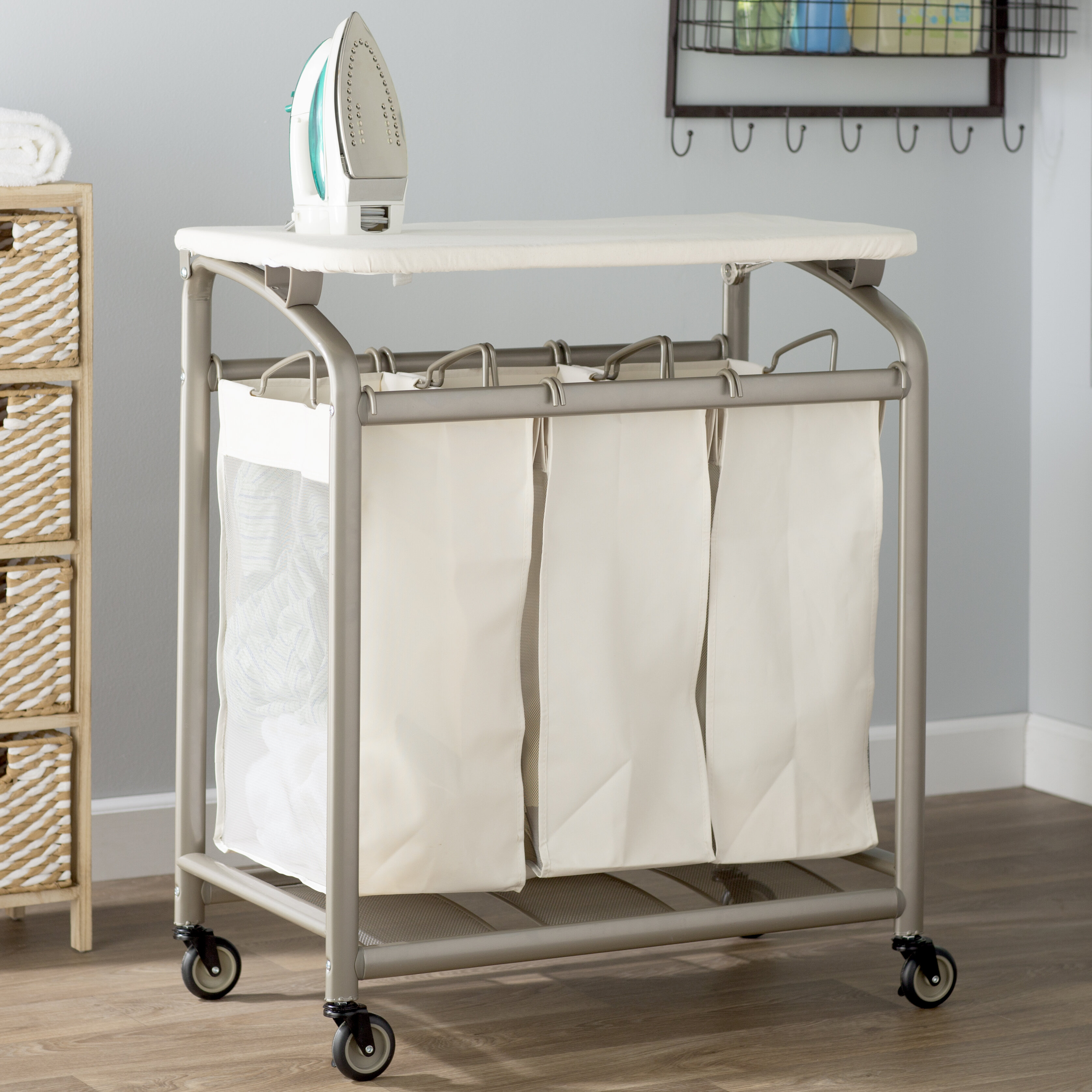 - The Twillery Co. Laundry Sorter Hamper With Folding Table