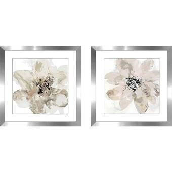 Latitude Run Big Red Poppies 2 Piece Picture Frame Print Set On Paper Reviews Wayfair