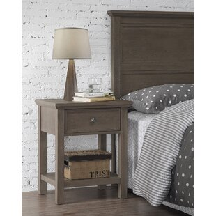 Rustic 1 Drawer Nightstand by RunFine Group
