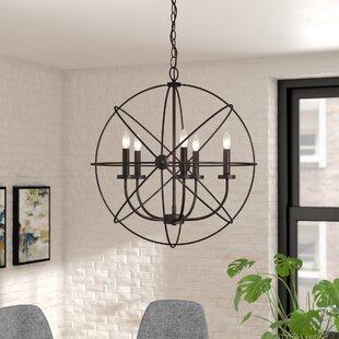 Ivy Bronx Waldron 5-Light Globe Chandelier