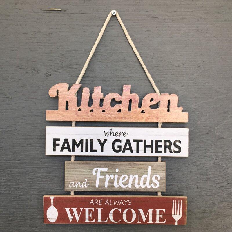 Kitchen Wall Art - Kitchen Chain Sign Wood Wall Décor