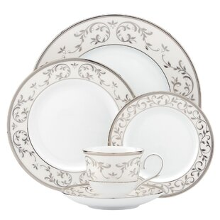 Opal Innocence Silver Bone China 5 Piece Place Setting, Service for 1