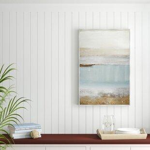 Echo Beach Framed Acrylic Painting Print On Canvas