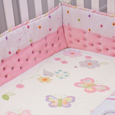Crazy Daisy Candy Pink Airflow Crib Safety Bumper